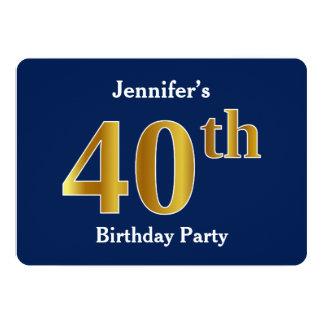 Cartão Azul, partido de aniversário de 40 anos do ouro do