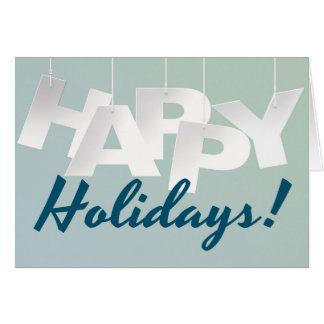 Cartão Azul simples boas festas