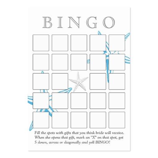 Cartão azul simples do Bingo do chá de panela da e Modelos Cartoes De Visitas