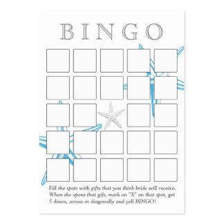 Cartão azul simples do Bingo do chá de panela da e Cartão De Visita Grande