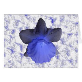 Cartão azul temperamental do Daffodil do gotejamen
