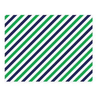 Cartão azul & verde da listra