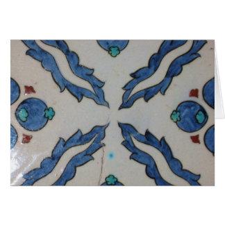 Cartão Azulejo antigo tradicional do otomano