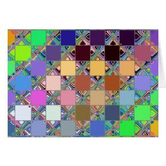 Cartão Azulejos de mosaico coloridos