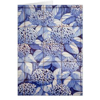 Cartão Azulejos florais