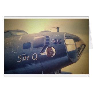 Cartão B17 bombardeiro Suzy Q