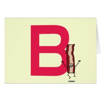 Cartão B é para a letra de salto feliz do ABC da tira do