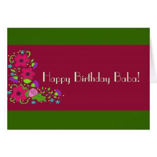 Cartão Babá do feliz aniversario!