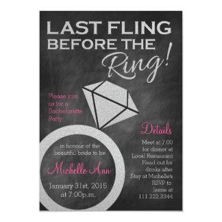 Cartão Bachelorette convida por último o Fling antes do