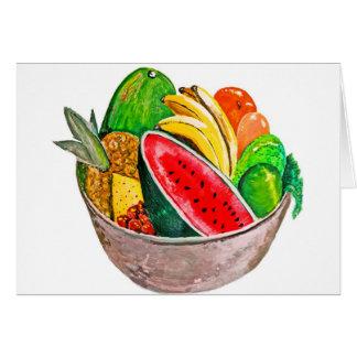Cartão Bacia de fruta