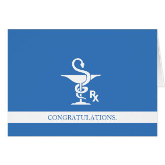 Cartão Bacia dos parabéns da farmacologia de Hygenia