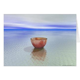 Cartão Bacia e água