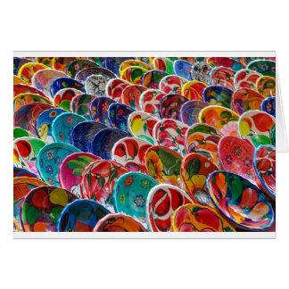 Cartão Bacias mexicanas maias coloridas