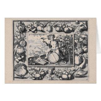 Cartão Baco/deus de Dionysus do vinho
