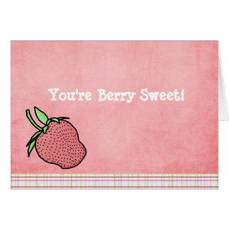Cartão Baga Notecard dobrado doce