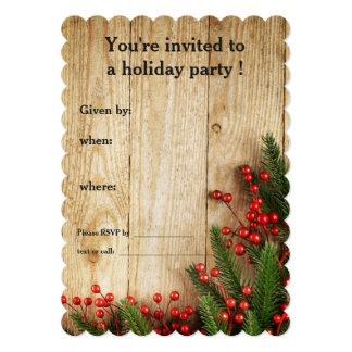 Cartão Bagas do azevinho da festa natalícia na madeira