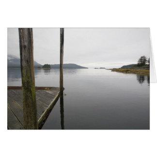 Cartão Baía de Funter da reflexão de espelho, Alaska