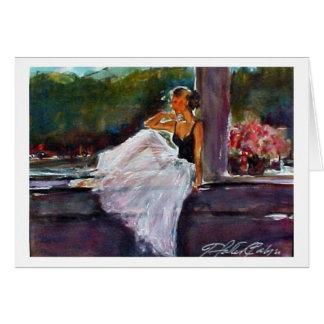 Cartão Bailarina na janela
