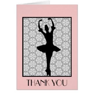 Cartão Bailarina - obrigado da apreciação do professor