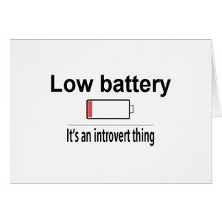 Cartão Baixa bateria