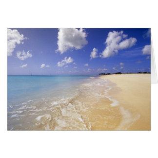 Cartão Baixa praia da baía, Barbuda, Antígua