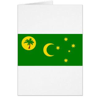Cartão Baixo custo! Bandeira da ilha de Cocos