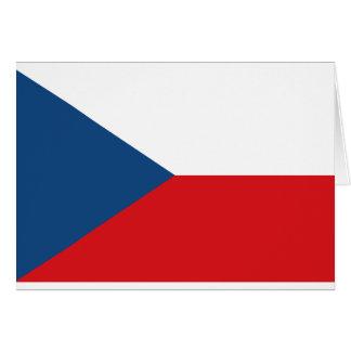 Cartão Baixo custo! Bandeira da república checa