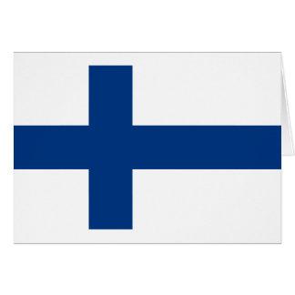 Cartão Baixo custo! Bandeira de Finlandia