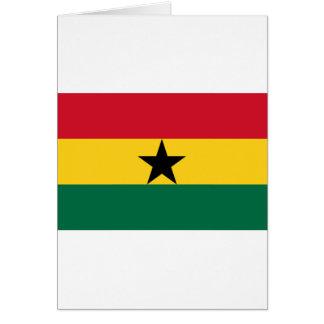 Cartão Baixo custo! Bandeira de Ghana