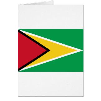 Cartão Baixo custo! Bandeira de Guyana