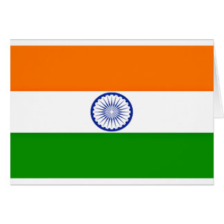 Cartão Baixo custo! Bandeira de India