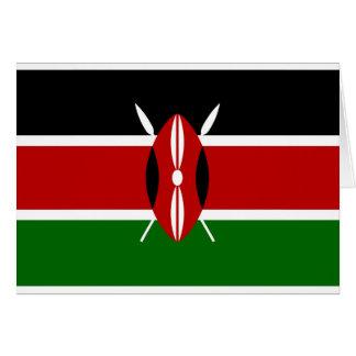 Cartão Baixo custo! Bandeira de Kenya