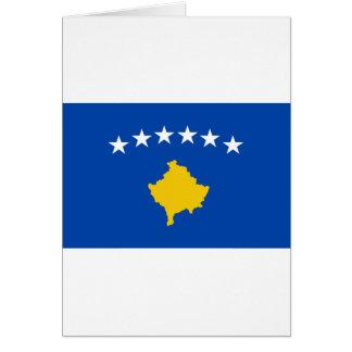 Cartão Baixo custo! Bandeira de Kosovo
