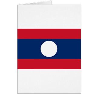 Cartão Baixo custo! Bandeira de Laos