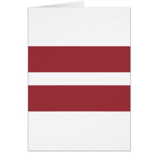 Cartão Baixo custo! Bandeira de Latvia