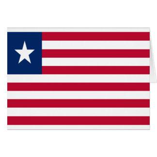 Cartão Baixo custo! Bandeira de Liberia