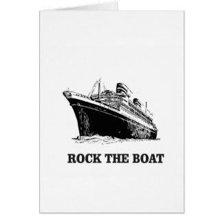Cartão balance o barco grande