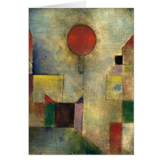 Cartão Balão do vermelho de Paul Klee