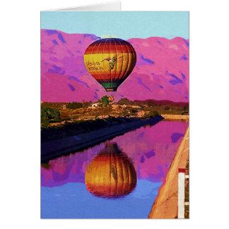 Cartão Balão, por do sol, Palm Springs, Califórnia