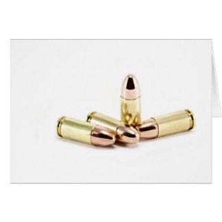 Cartão balas de 9mm