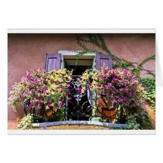 Cartão Balcão com flores