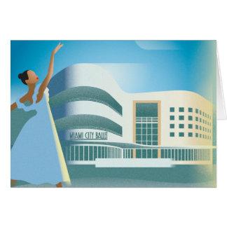 Cartão Balé da cidade de Miami Beach |