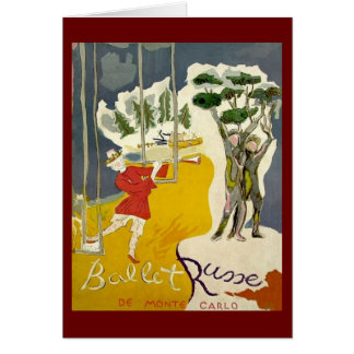 Cartão Balé Russe de Monte - Carlo