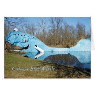 Cartão Baleia azul de Catoosa