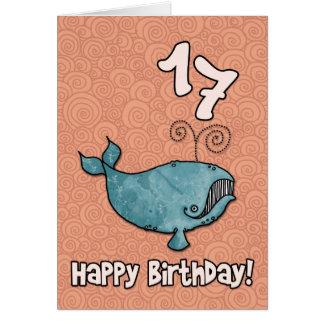 Cartão baleia do BD - 17