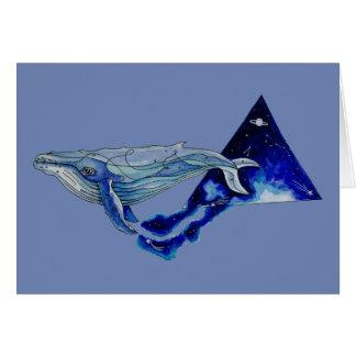 Cartão baleia do espaço