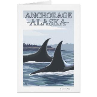 Cartão Baleias #1 da orca - Anchorage, Alaska
