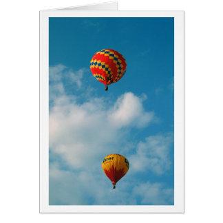 Cartão Balões de ar quente