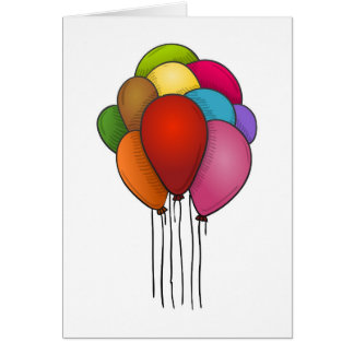 Cartão Balões de flutuação