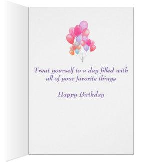 Cartão Balões do aniversário
